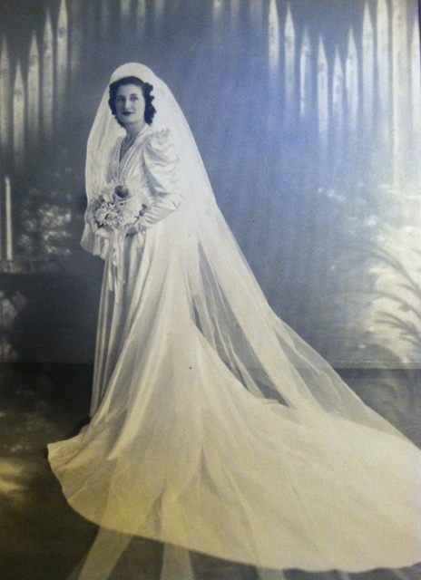Angela Josephine Fenech, nineteen years old, on her wedding day.